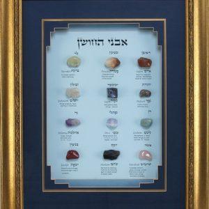תמונת אבני החושן עברית/אנגלית